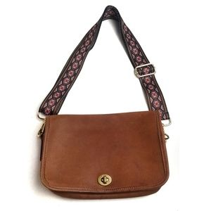 COACH Brown Leather Shoulde Crossbody Boho Bag